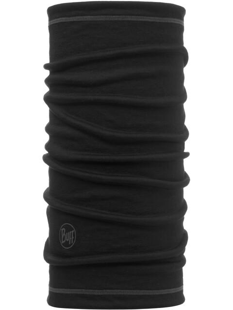 Buff Lightweight Merino Wool 3/4 Tube Solid Black